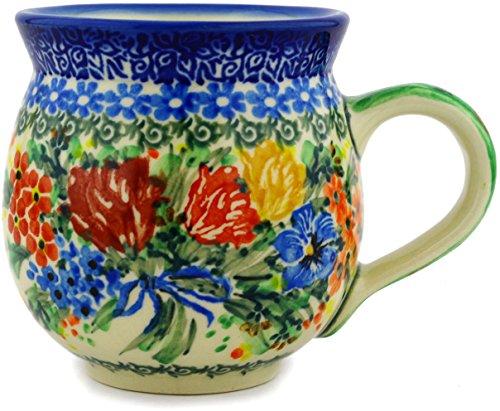 - Polish Pottery 11 oz Bubble Mug made by Ceramika Artystyczna (Dragonfly Bouquet Theme) Signature UNIKAT + Certificate of Authenticity