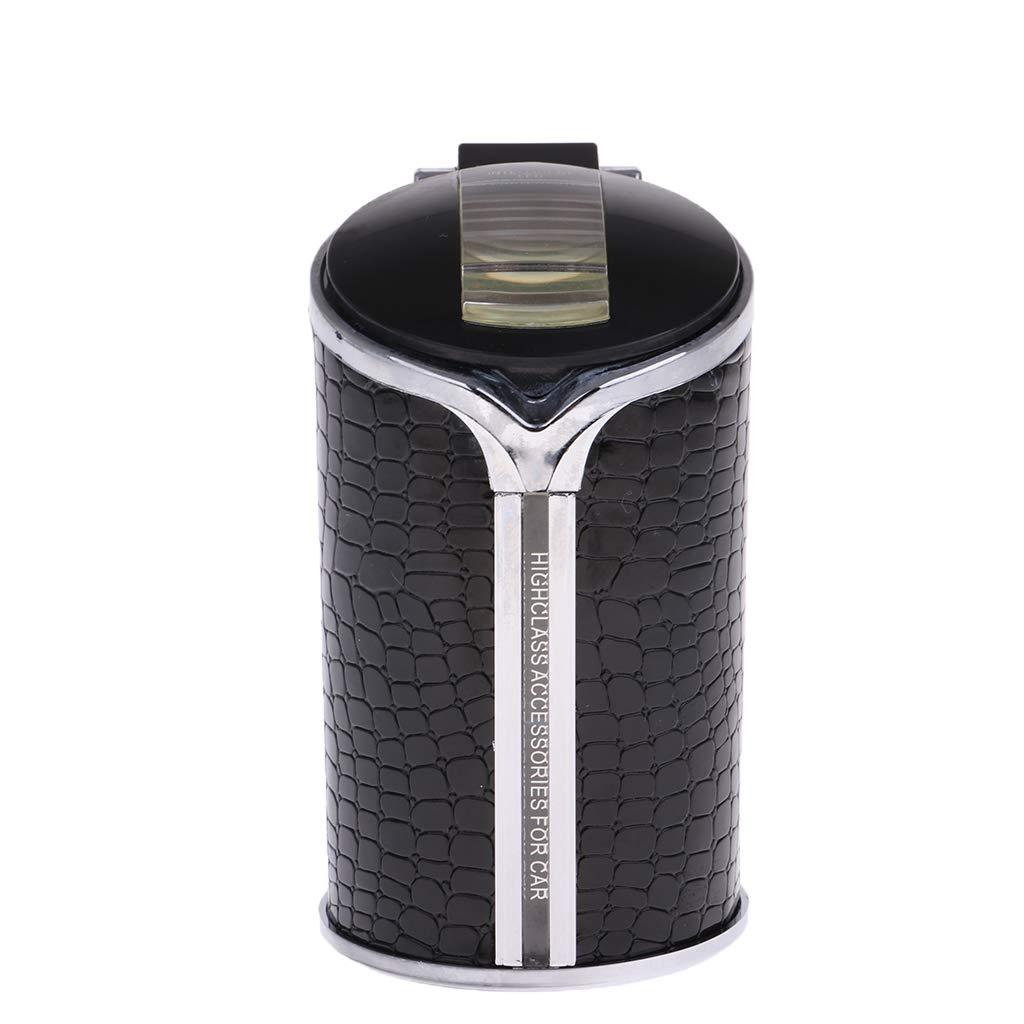non-brand Cilindro Portatile di Plastica Auto Posacenere Auto Nero