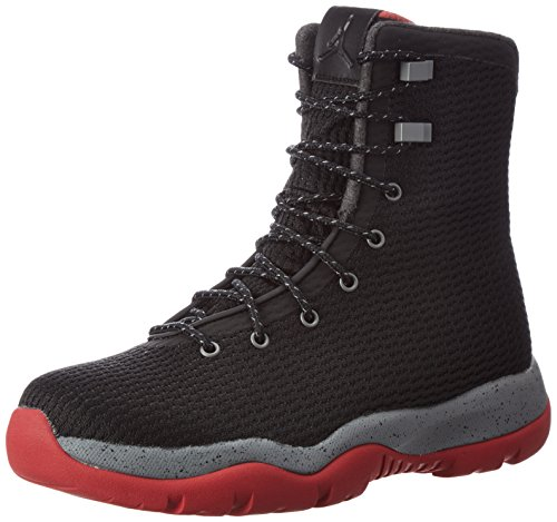 (Nike Mens Jordan Future Boot Black/Red-Grey Fabric Size 8.5)