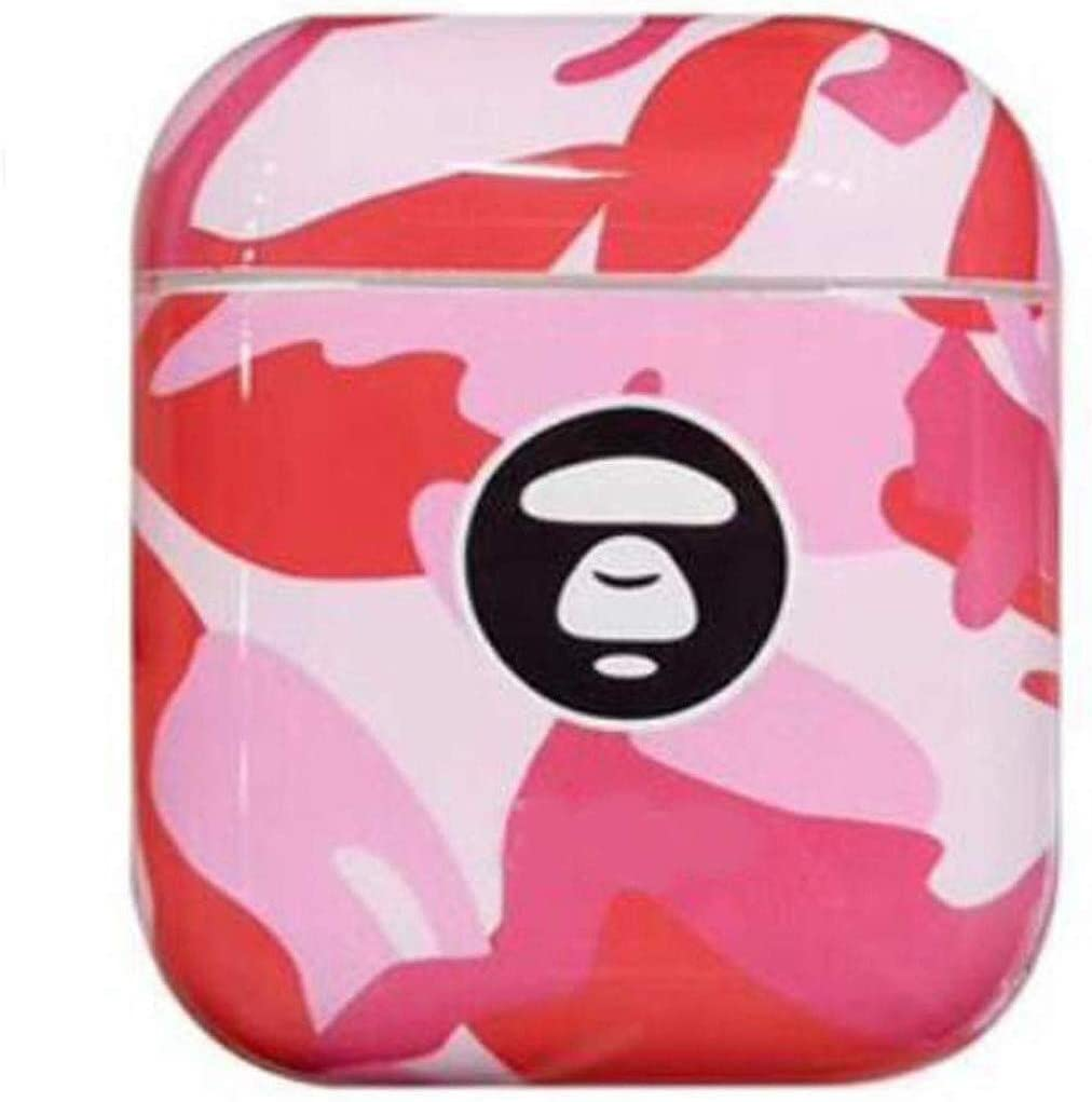 YSYYSH Headset Set Wireless Bluetooth Headset Hard Silicone Storage Box Color Dustproof Shock Protection Cover Three Colors to Choose from Portable Earphone Color : Camouflage Pink