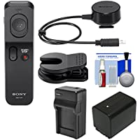 Sony RMT-VP1K Wireless Remote Shutter Controller + Battery/Charger Kit for Handycam CX330, CX900, PJ650V, FDR-AX100, AX33, AX53 Camcorder
