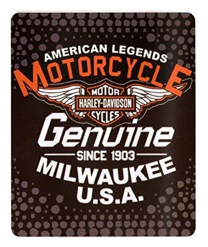 - Northwest Harley Davidson Fleece Throw Blanket (6 Styles) 50 x 60 - Legend