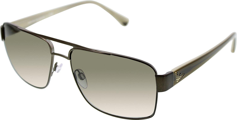 de6220ba218e Emporio Armani Men s 2002 Matte Green Frame Green Gradient Lens Stainless  Steel Sunglasses  Amazon.co.uk  Clothing
