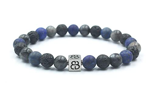 Lapis Lazuli Sodalite and Lava Stone Bracelet Tiger Eye