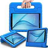 AVAWO Kiddie Case for Samsung Galaxy Tab E Lite 7.0' - Shockproof Case Light Weight Kids Case Super Protection Cover Handle Stand Case for Children for Samsung Galaxy Tab E Lite 7-Inch Table (Blue)