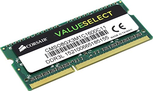 Corsair CMSO4GX3M1C1600C11 4GB (1x4GB) 1600MHz PC3-12800 204-Pin DDR3 SODIMM Laptop Memory 1.35V -