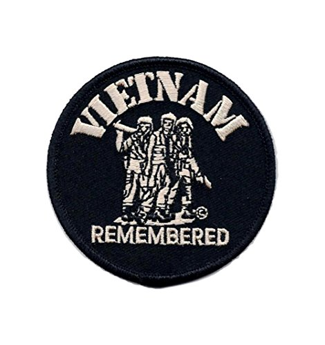 Vietnam Remembered Veterans Embroidered Military Patch Sew or Iron AKPM205
