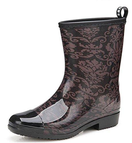 D Antiskid Boots Adult Rain Rubber Shoes Women's qwwBgR