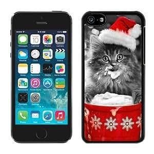 Popular Design Iphone 5C TPU Case Christmas Cat Black iPhone 5C Case 35