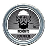 Rugged Roots Beard Balm and Leave in Conditioner, Softener and Moisturizer for All Hair Types. Unique Stocking Stuffer for Men,Incognito(Unscented)