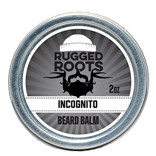 Beard Balm and Leave in Conditioner Softener and Moisturizer for All Hair Types. Unique Gift for Men, Father's Day Gift. Incognito(Unscented)