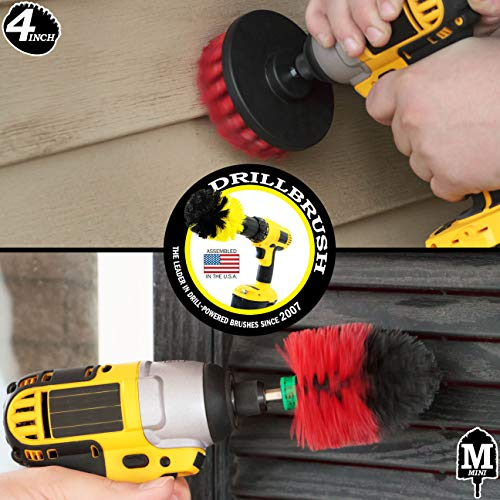 Stiff Bristle Spin Brush Cleaning Kit - Clean and Remove Algae, Mold, Mildew, and Moss - Deck Brush- Granite, Marble Cleaner - Patio, Concrete Bird Baths, Garden Fountains - Monuments and Headstones by Drillbrush (Image #2)