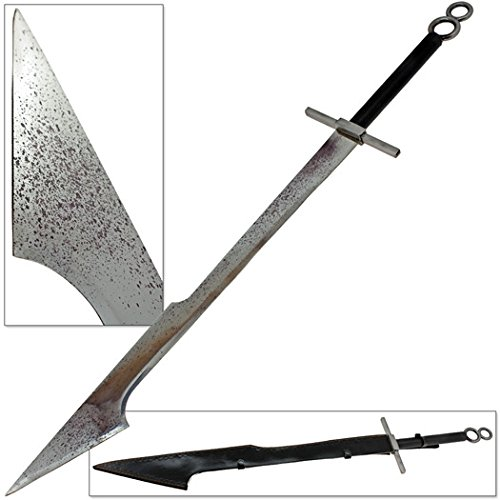 Celtic Sword Warrior Splattered Blade from Hell Type 44.8 Inch Replica Stainless Steel