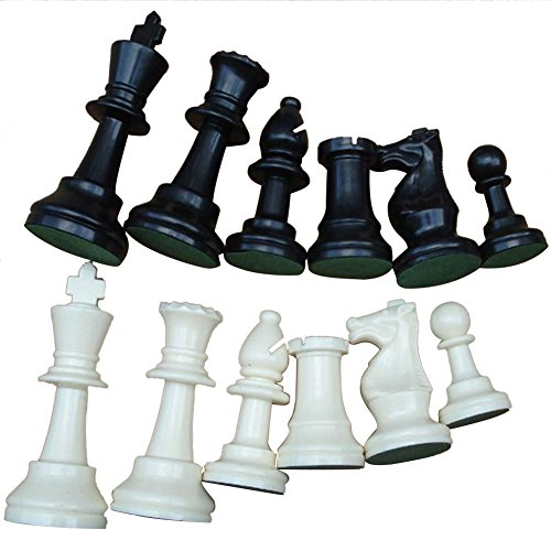 Weight Tournament Chess Game Set - Chess Board Game International Chess Pieces Complete Chessmen Set Black & White (Chessmen Chess)
