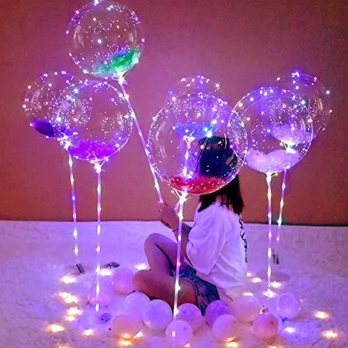 AU LED Helium/Air Bobo Balloon String Lights Flasher Lighting Wave Ball 10FT Helium Balloons Party Balloons Lights Christmas Birthday Wedding Valentine Decoration - 30Leds Colorful LED