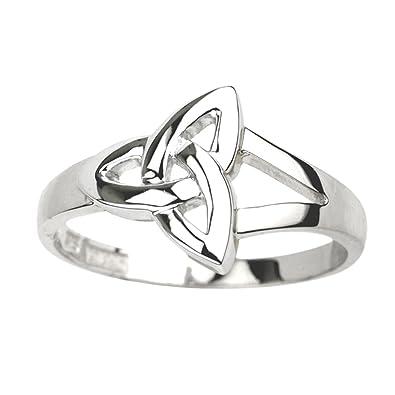 Amazon.com  Failte Womens Trinity Knot Ring Sterling Silver Made in ... b08b9c0e2