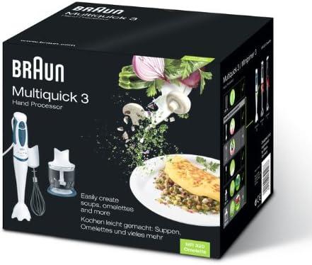 Braun - Batidora Multiquick 3 MR 320 Omelette: Amazon.es: Hogar