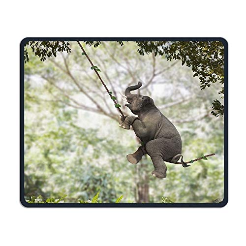 Swinging Vine - Elephant Swinging On Vine Office,Game Necessary,Good Partner Mouse,Mouse Pad