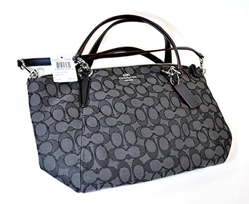 (Coach OTL Signature J Small Kelsey - Black/Smoke/Black)
