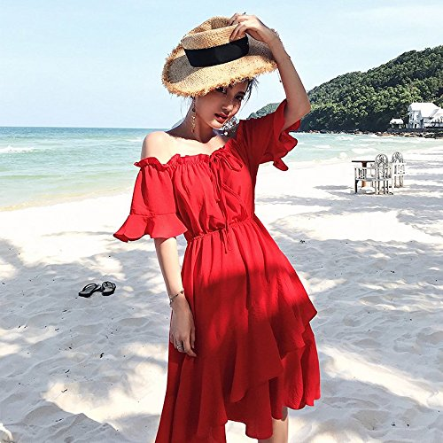 S paule Robe Printemps MiGMV 2018 Jupe Robes Sexy Rouge Black paule xSCTqz
