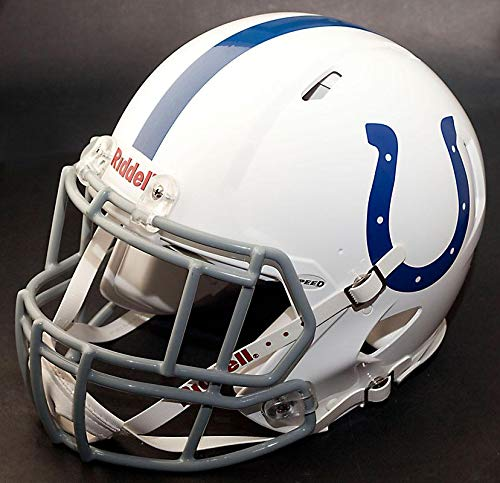 Riddell Indianapolis Colts NFL Gameday Replica Football Helmet with S2EG-II-SP Football Helmet Facemask/Faceguard