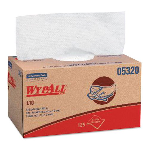 KIMBERLY-CLARK PROFESSIONAL* WYPALL X70 Wipers, Quarterfold, 12 1/2 x 23 1/2, White, 300/Box - Includes one box of 300 towels.