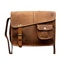 Tuzech Designer Buffalo Hunter Leather Laptop Messenger Bag Office Briefcase College Bag - Fits Laptop Upto 13.3 Inches
