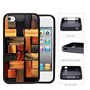 Aged Laminate Hardwood Floor Rubber Silicone TPU Cell Phone Case Apple iPhone 4 4s Kimberly Kurzendoerfer