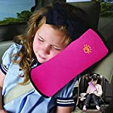 VERISA Car Seat Belt Covers Pillow Adjust Vehicle Shoulder Pads, Safety Belt Protector Cushion, Plush Soft Auto Seat Belt Strap Cover Headrest Neck Support for Kids Baby Adult Rose Red