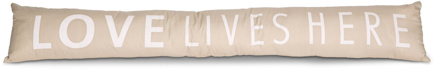 Pavilion Gift Company 72188 Love Lives Here Draft Stopper, 36-1/2 x 6''