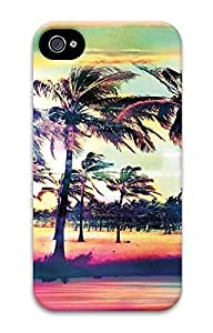 iPhone 4 Case, Customized Protective Trees Scener Hard 3D Case Cover for iPhone 4 4s