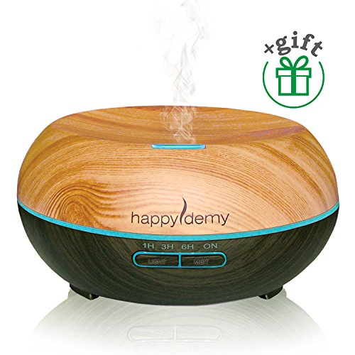Ultrasonic-aromatherapy-diffuser-Happydemy-Gift-Essential-Oil-Diffuser-Humidifier-Cool-Mist-best-spa-room-Diffuser-with-7-Colors-4-Timer-Settings