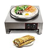 110V Commercial 16-Inch Electric Crepe Maker with A