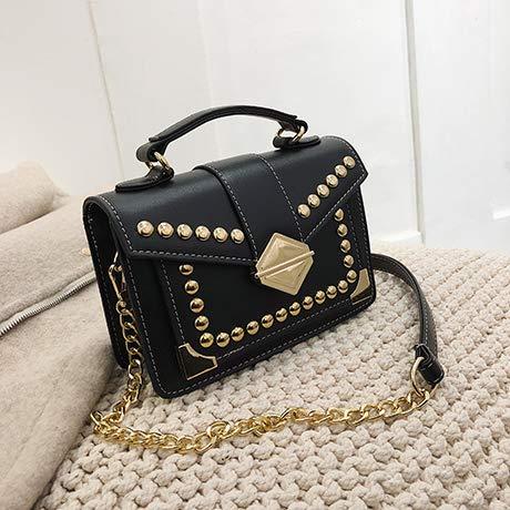 Baitao Borsa nuova trama moda quadrata spalla catena Donna rivetto piccola Bag La Borse singola Oblique zWxfnAgw