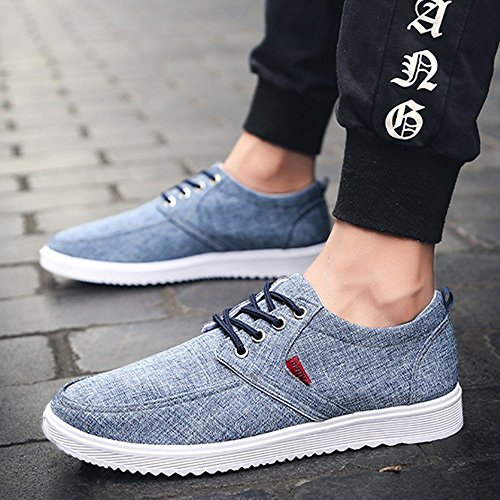 Lacets Baskets Nouvelle Occasionnels Confortables Blue Ville Travail Toe Sport Chaussures Rondes Flat Mode Zzzz Sneakers ZqzwFz