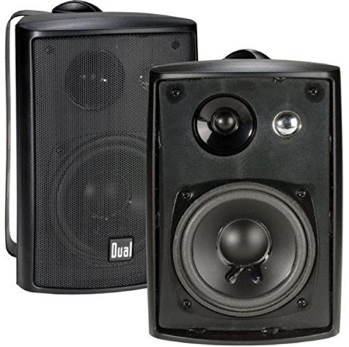 Dual LU43PB Speakers Stereo Black 1 Pair Home Indoor/Outdoor