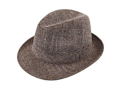 Panama Fedora Chapeau Soleil Homme Chanvre Café Trilby Coton De Acvip xqOY4nw6Sf