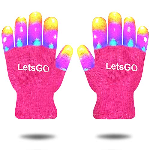 My-My Christmas Toys for 5-10 Years Old Kids, Finger Light Hot Top Toys Christmas 2018 for Birthday Party Present Top 10 Kids Toys for 3-10 Years Old Kids Light up Gloves New Toys 2018 Pink MMJSST08
