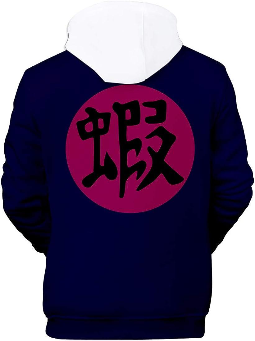 PANOZON Jungen 3D Anime Freizeit Hoodie mit Naruto Druck Kapuzenpullover Uchiha Streetwear