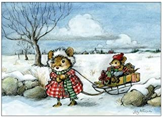 product image for Wee Forest Folk Note-7 Sled Xmas Note Cards Set of 6
