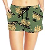 Haiti Coat Of Arms Women Casual Sexy Hot Pants Summer Boardshort Running Shorts