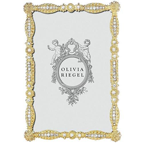 GOLD ASBURY Austrian Crystal 4x6 frame by Olivia Riegel - -