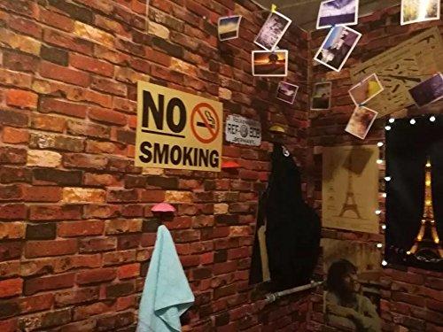 Yancorp Waterproof Self-Adhesive Wallpaper Rust Red Brown Brick Pattern Peel-Stick Wallpaper Wall Stickers Door Stickers Counter Top Stickers (Rust Red Brick) by Yancorp (Image #5)