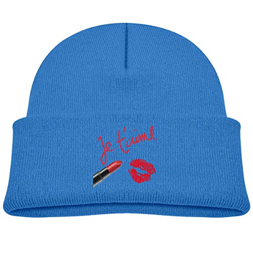 Kids Knitted Beanies Hat Makeup Time Mouth Winter Hat Knitted Skull Cap for Boys Girls Blue]()