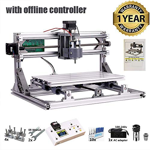 CNC 3018 Router Kit with Offline Controller GRBL Control 3 Axis Plastic  Acrylic PCB PVC Wood Carving Milling Engraving Machine, XYZ Working Area