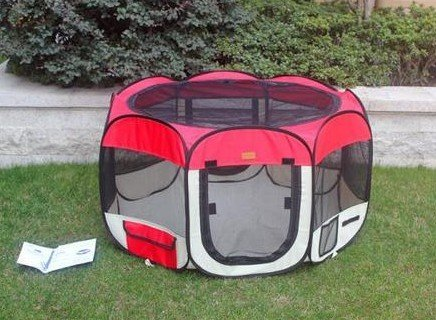 Cheap Large Red Pet Tent Exercise Pen