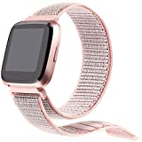 bayite Soft Bands Compatible with Fitbit Versa Women Men, Breathable Sport Loop Band Replacement Accessories Wristband
