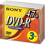Sony DVD-R 16X 4.7GB (3-Pack) (Discontinued by Manufacturer)