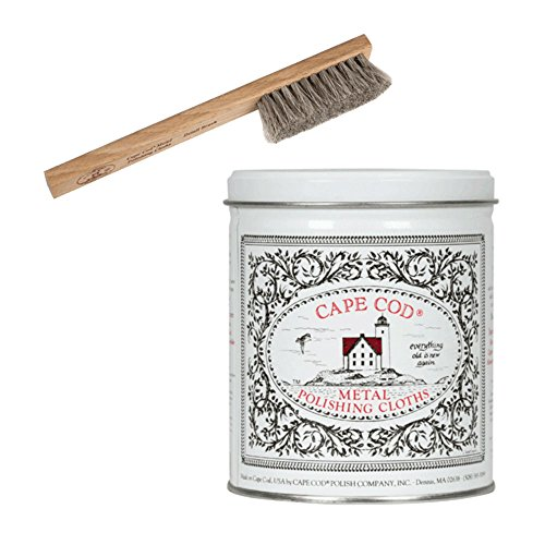 (Cape Cod Metal Polish Tin and Horsehair Detail Brush)