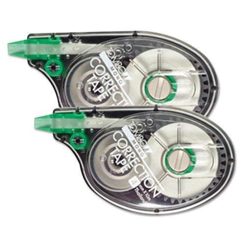 Tombow MONO Correction Tape, Non-Refillable, 1/6 x 394, White Tape, 2/Pack